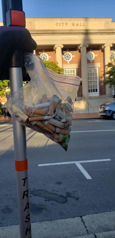 PHOTO: Cigarette butts