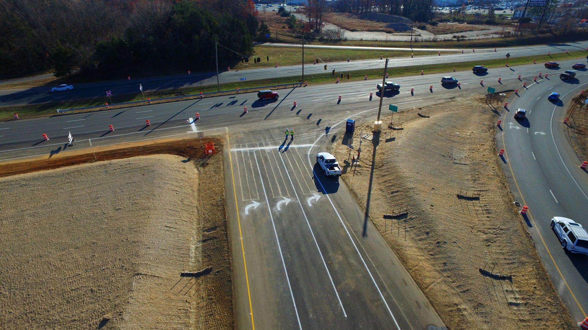 VDOTInterchangeDirectOverflight 23JPG New exit turn lane to