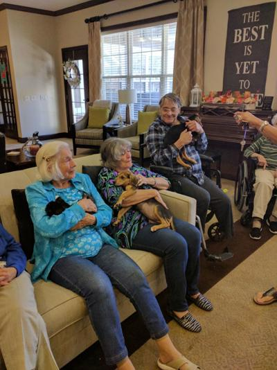 The Squishy Face Crew visits Bickford Assisted Living