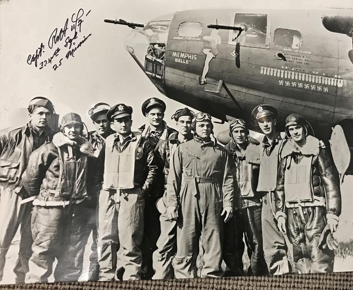 Stafford man has photo of original Memphis Belle crew