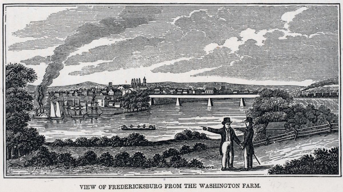 View of Fredericksburg from Washington Farm