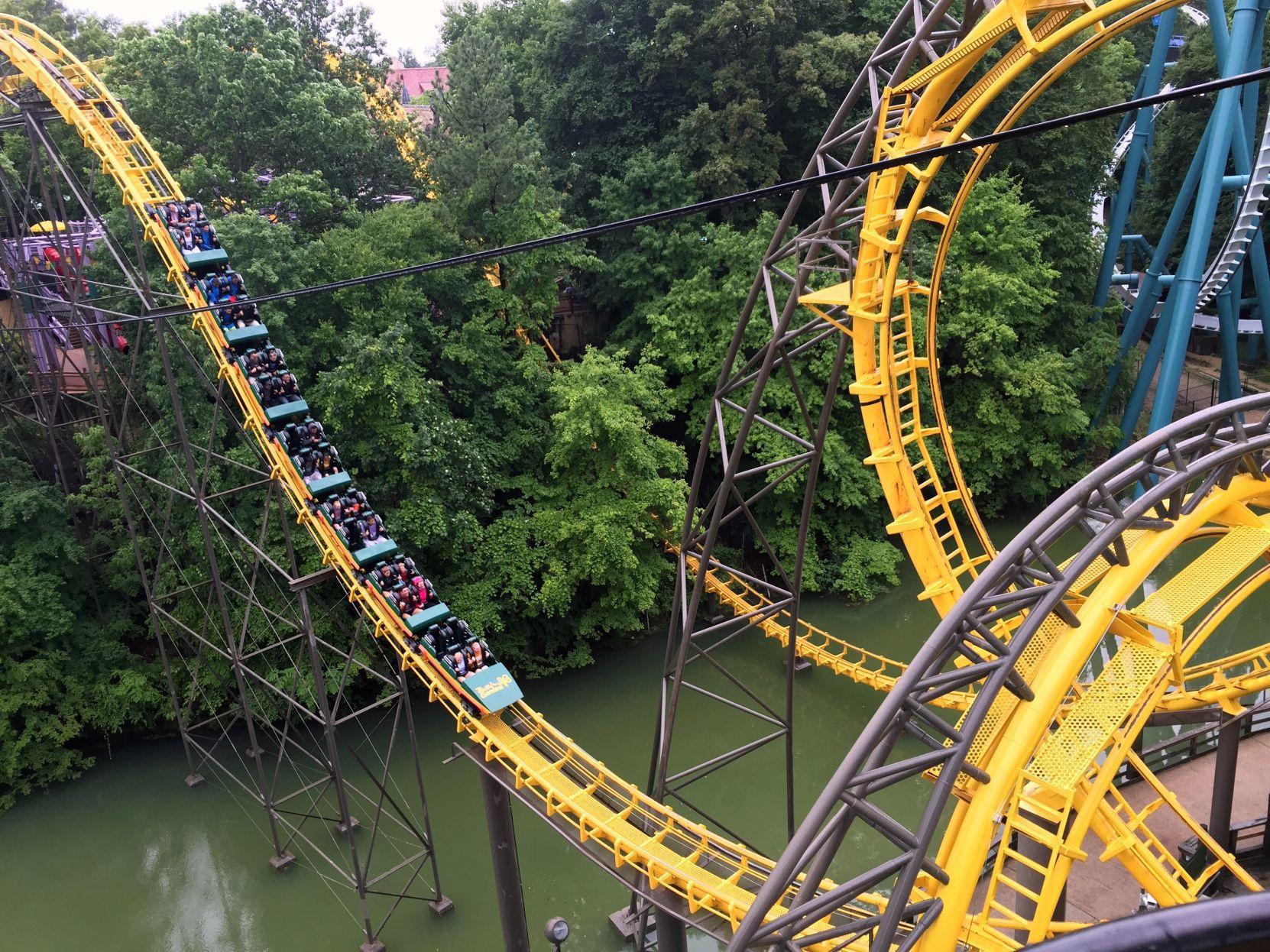 The Loch Ness Monster Roller Coaster Busch Gardens Williamsburg.