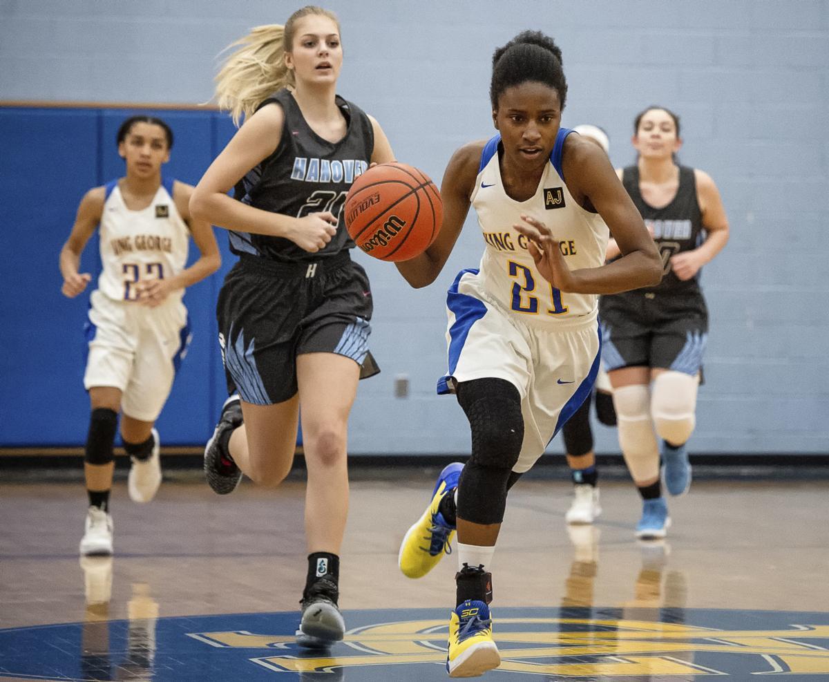 Hanover at King George girls basketball