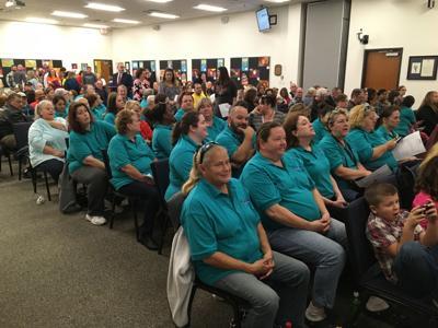 Spotsylvania School Board meeting bus drivers