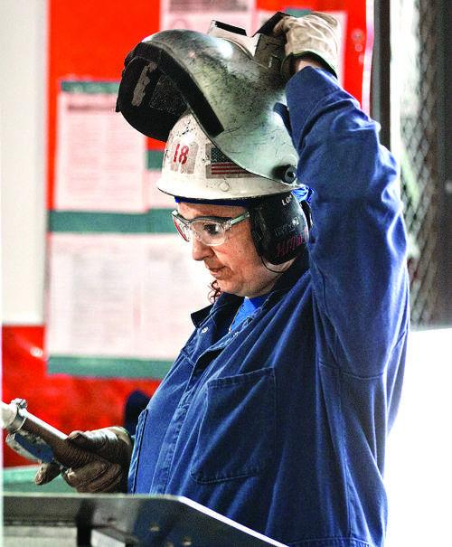 Female welder will make history with sub keel laying at