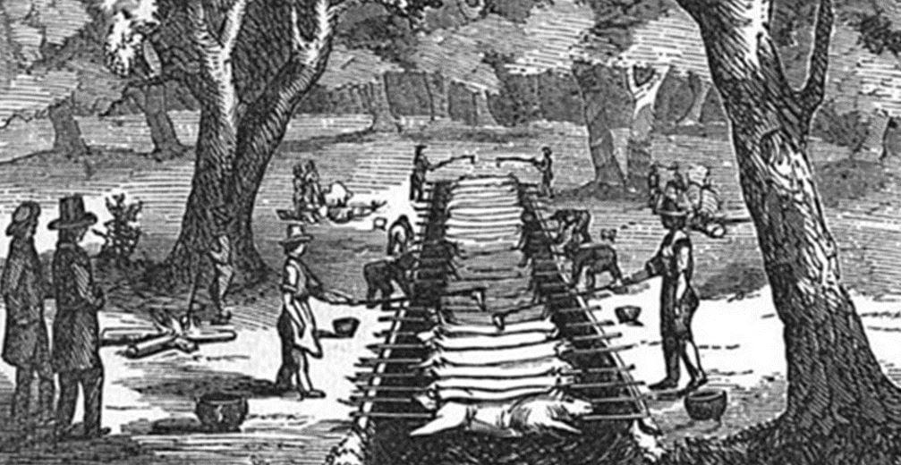Barbecue circa 1850s