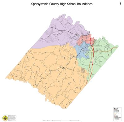 Spotsylvania County Public Schools High School boundaries