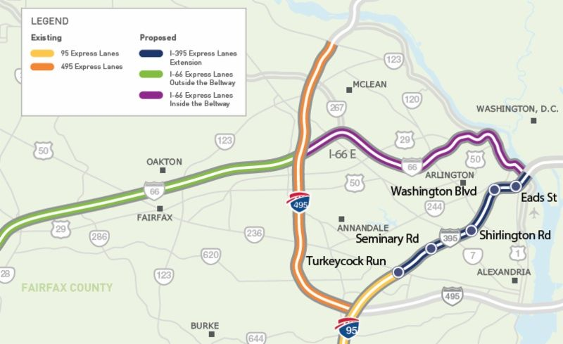 Virginia To Extend I 95 Express Lanes In Both Directions Including