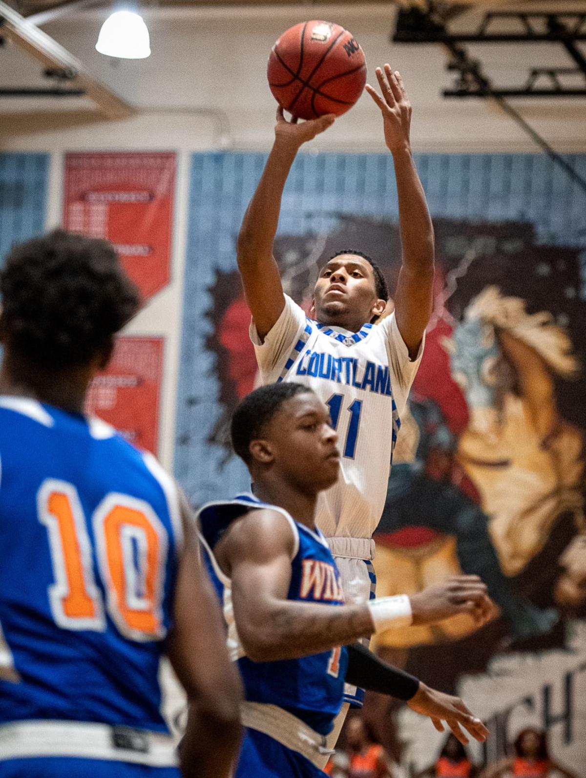 Courtland vs Woodrow Wilson boys basketball