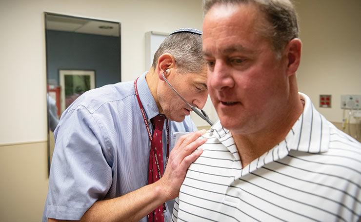 Gary Gardiner with Dr. Aaron Rapoport in summer