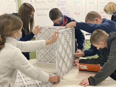 The Carmel School robotics program builds Wildcat Air Filters for campus buildings