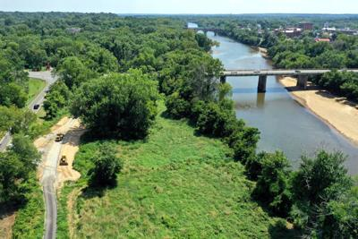 South-facing view of Belmont Trail and proximity to the river and Chatham Bridge (copy)