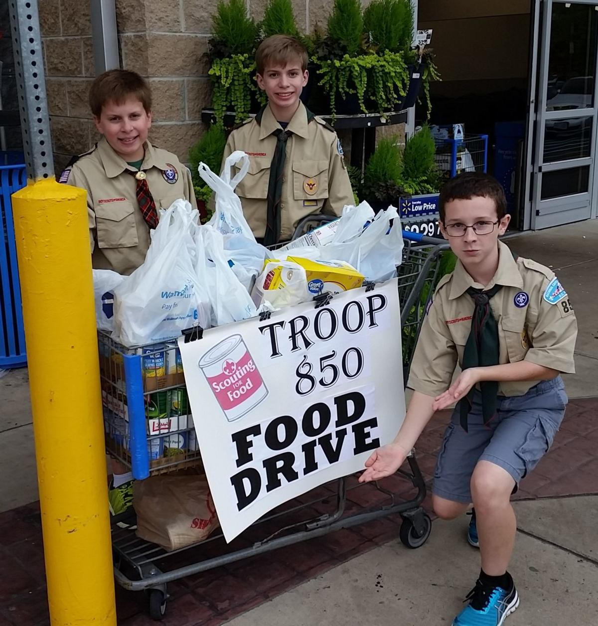 BSA Scouts are scouting for food