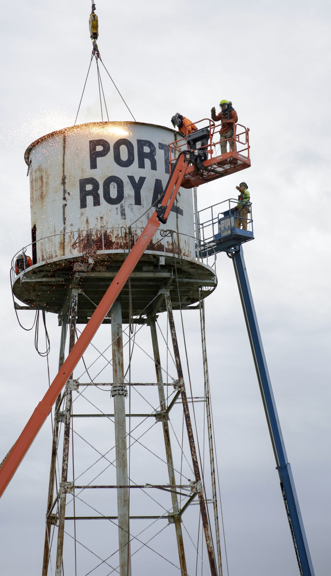 PORT ROYAL WATER TOWER DEMOLITION