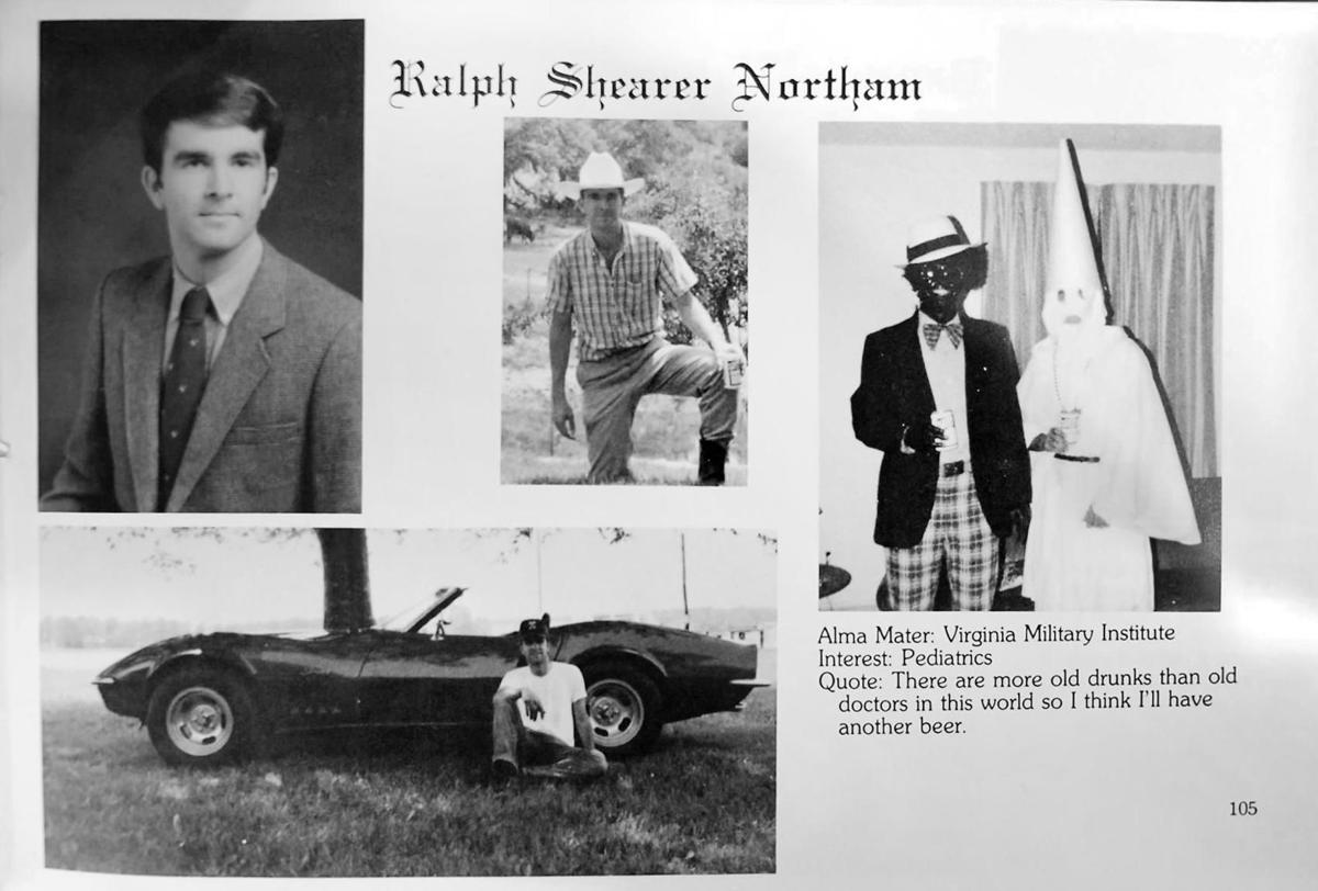Ralph Northam's yearbook page at Eastern Virginia Medical School