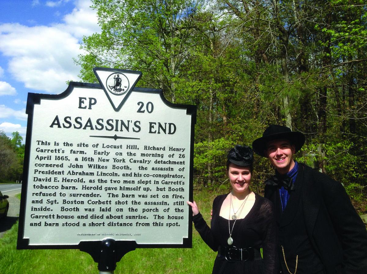 State marker to 'Assassin's End' dedicated in Port Royal on 150th anniversary of John Wilkes Booth's death