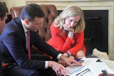 C.J. Mahoney and Abigail Spanberger