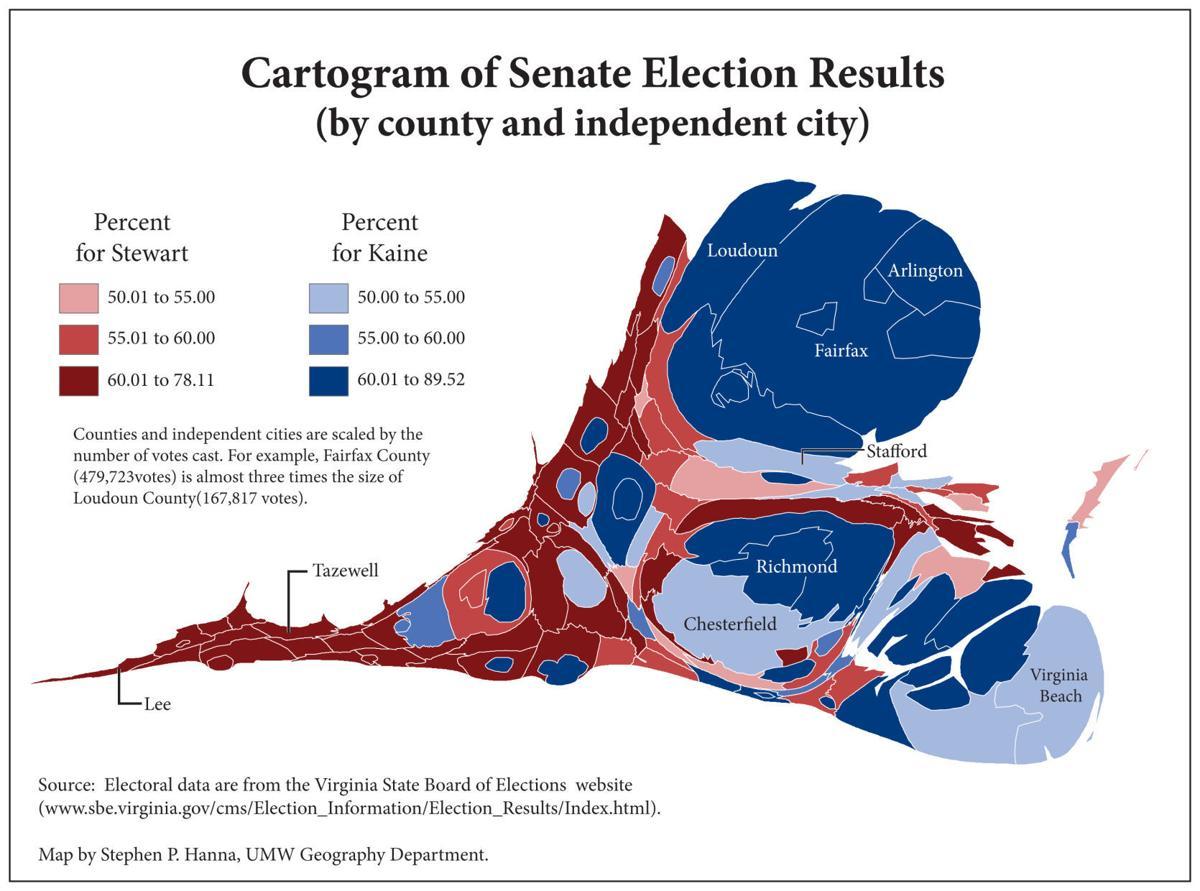 CARTOGRAM: Senate results