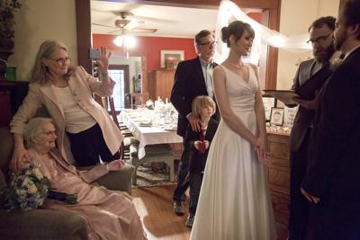 c291eab9e FAMILY ARRANGES HASTY WEDDING CEREMONY TO FULFILL DREAM OF BELOVED  MATRIARCH. BY COURTNEY CROWDER/THE DES MOINES REGISTER ...