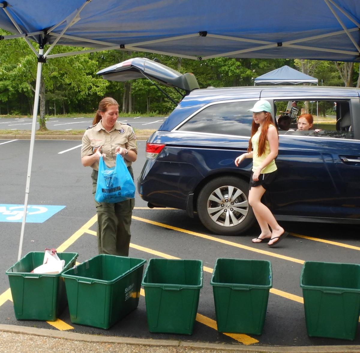 Scouts and volunteers collect donations for Stafford County food pantries
