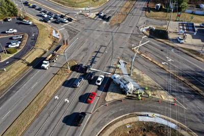 Leavells and Courthouse Road crosswalk aerial
