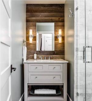 Grey Barn Siding Bathroom