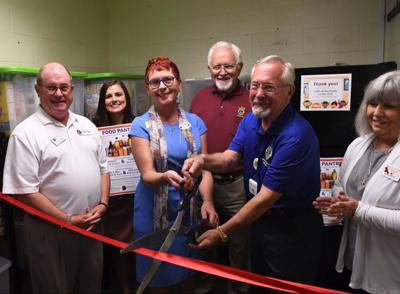 Ribbon cutting for the new GCC student food pantry