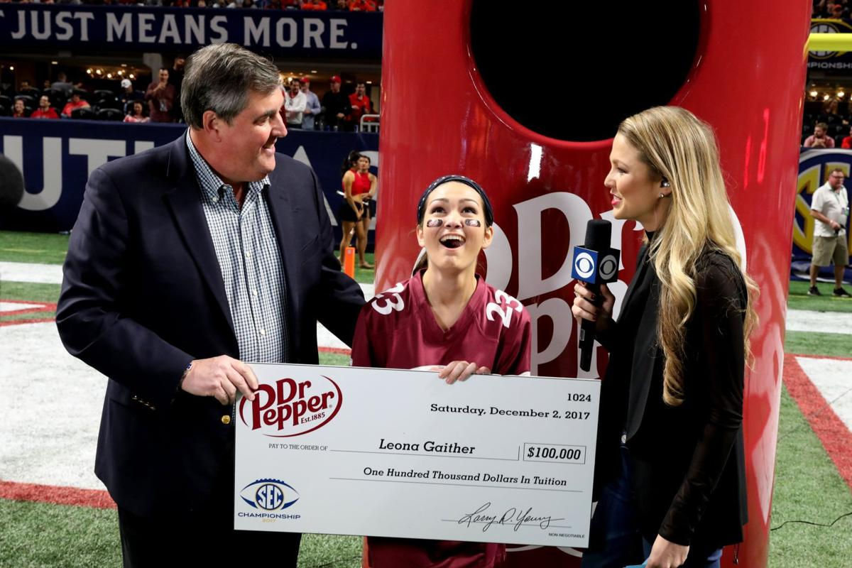 King George High senior wins $100,000 scholarship in Dr. Pepper football-tossing challenge