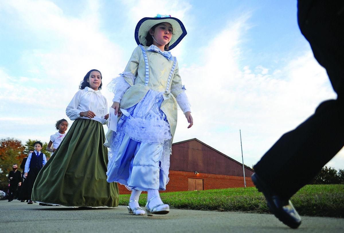 History on parade  at Tree of Life school