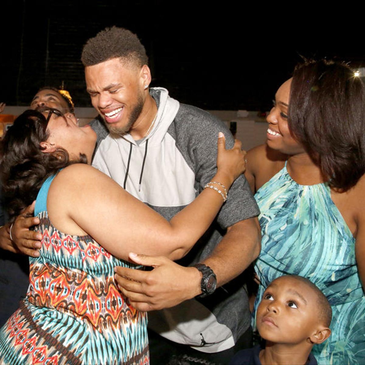Jus with his mom, Kim | fredericksburg.com