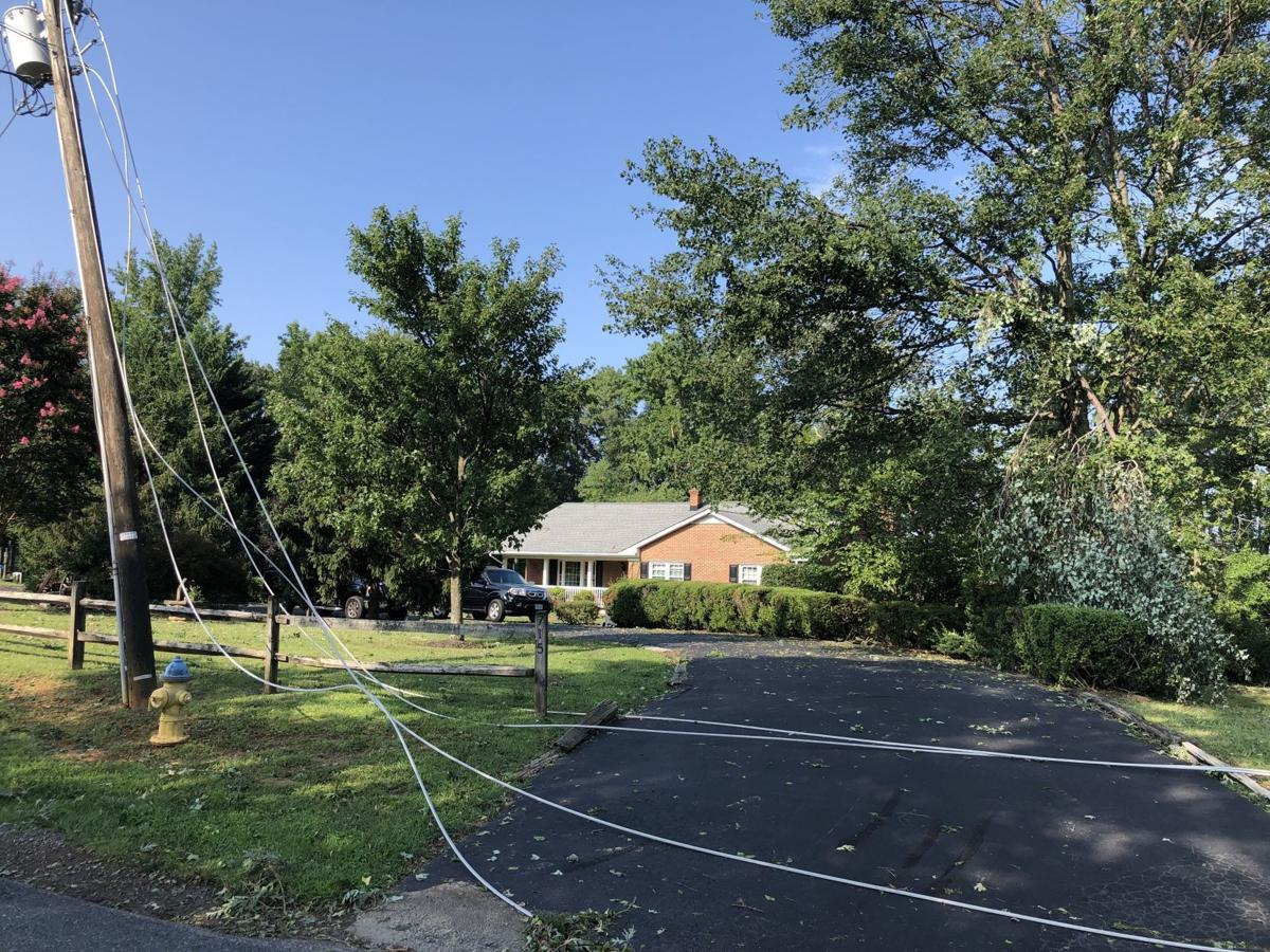 Downed power lines on Truslow Road