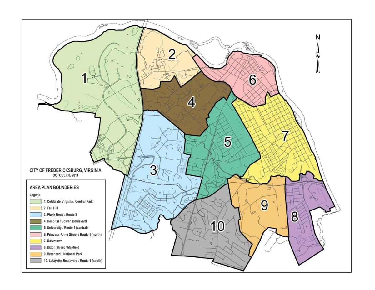 Fredericksburg Virginia Map.City Comp Plan Map Fredericksburg Com