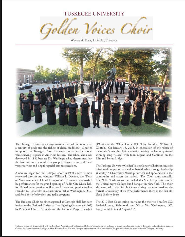 Tuskegee Golden Voices Choir Concert | Calendar