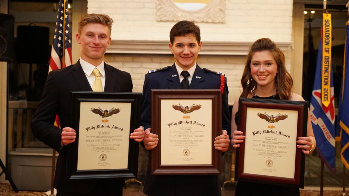 Local teenagers earn prestigious national award with the Civil Air Patrol