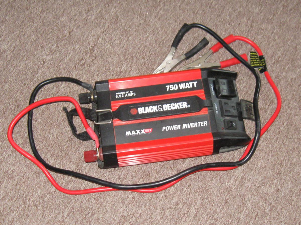 A 750 Watt Inverter Can Be Attached To Car Battery Produce 120 Volt Standard