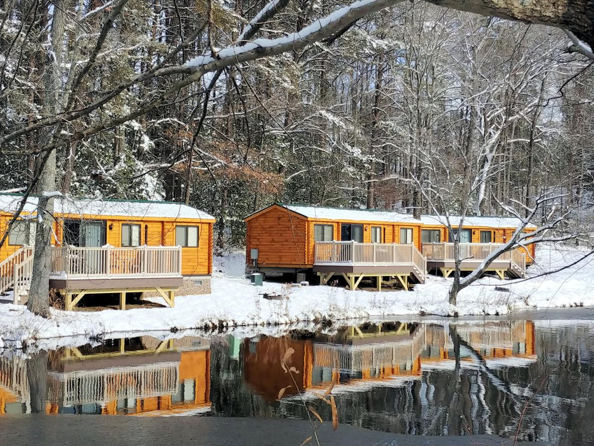 Beautiful cabins by the lake