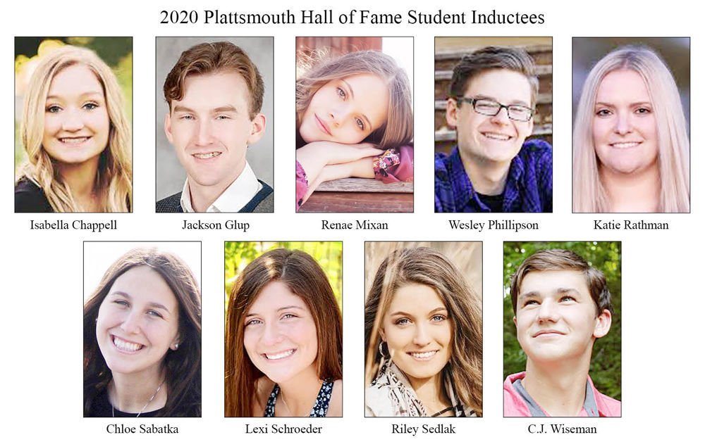 2020 Plattsmouth Hall of Fame Student Inductees