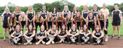 2019 Cass County Central softball team photo