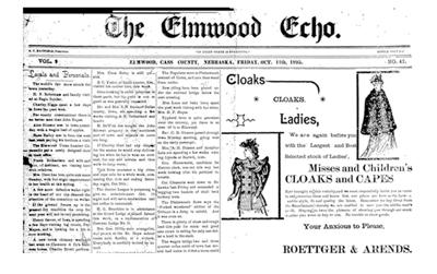 old newspaper photo