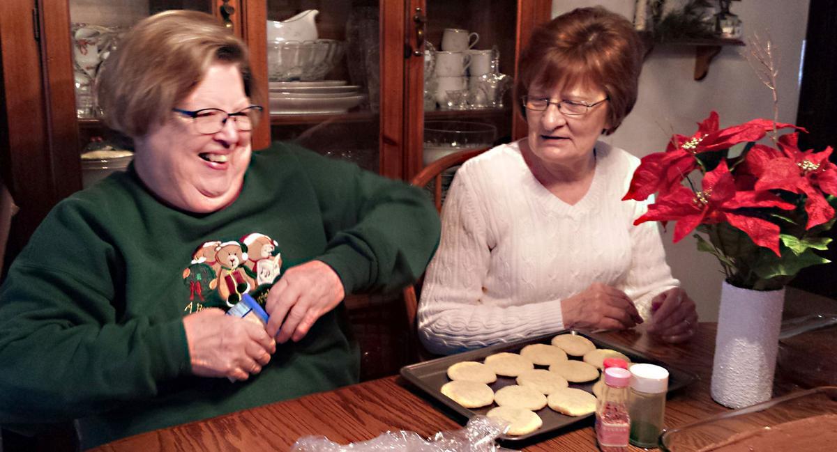 Catholic Daughters cookie walk frosting