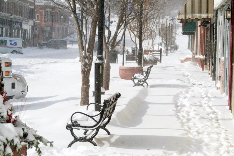 Snow in downtown Plattsmouth photo 1