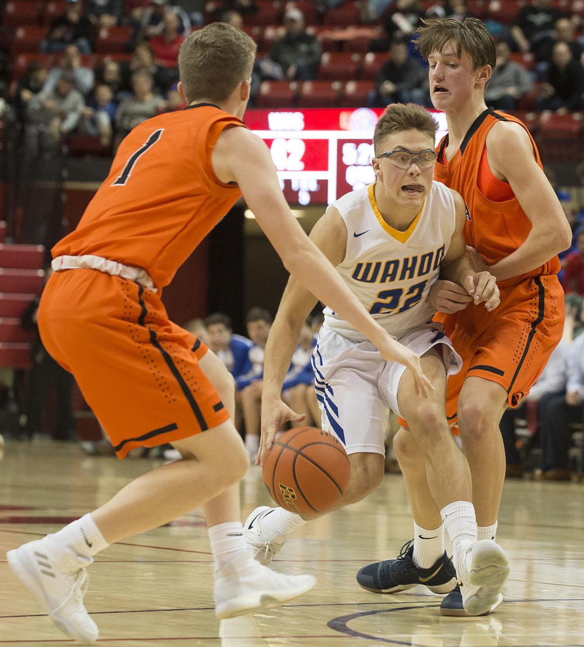 Boys state basketball, C1 first round - Wahoo vs. Ogallala, 3.8.2018
