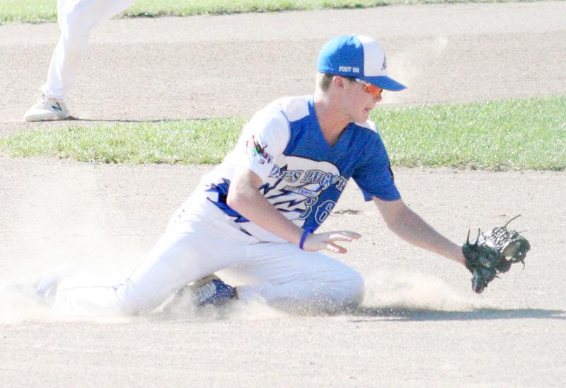Max Waters makes diving play at shortstop