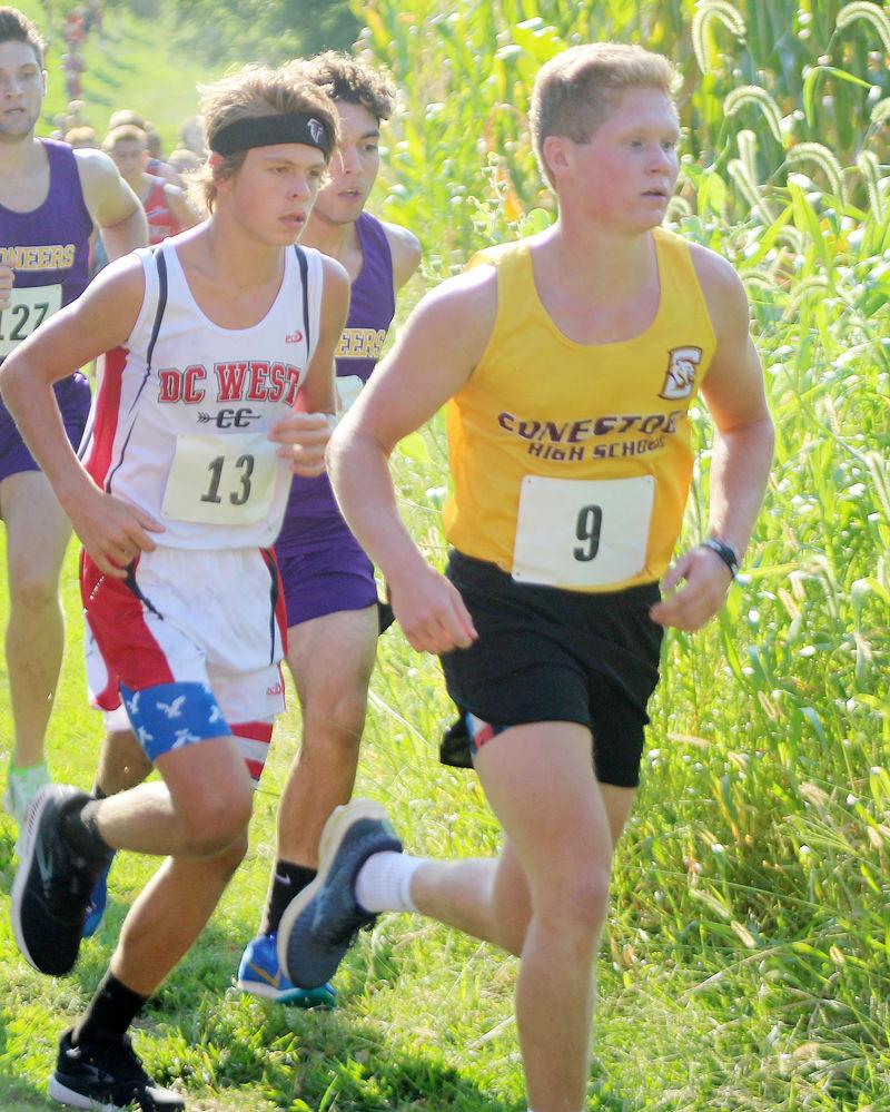 Braden Ruffner runs for Conestoga