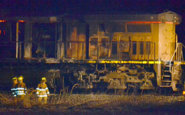 Train engine fire