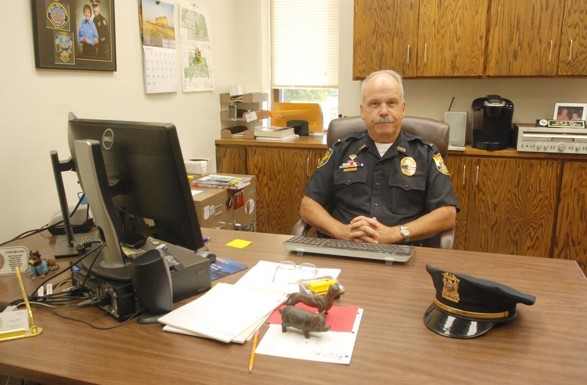Officer at desk