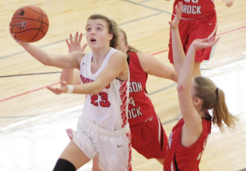 Grace Cave scores in first half