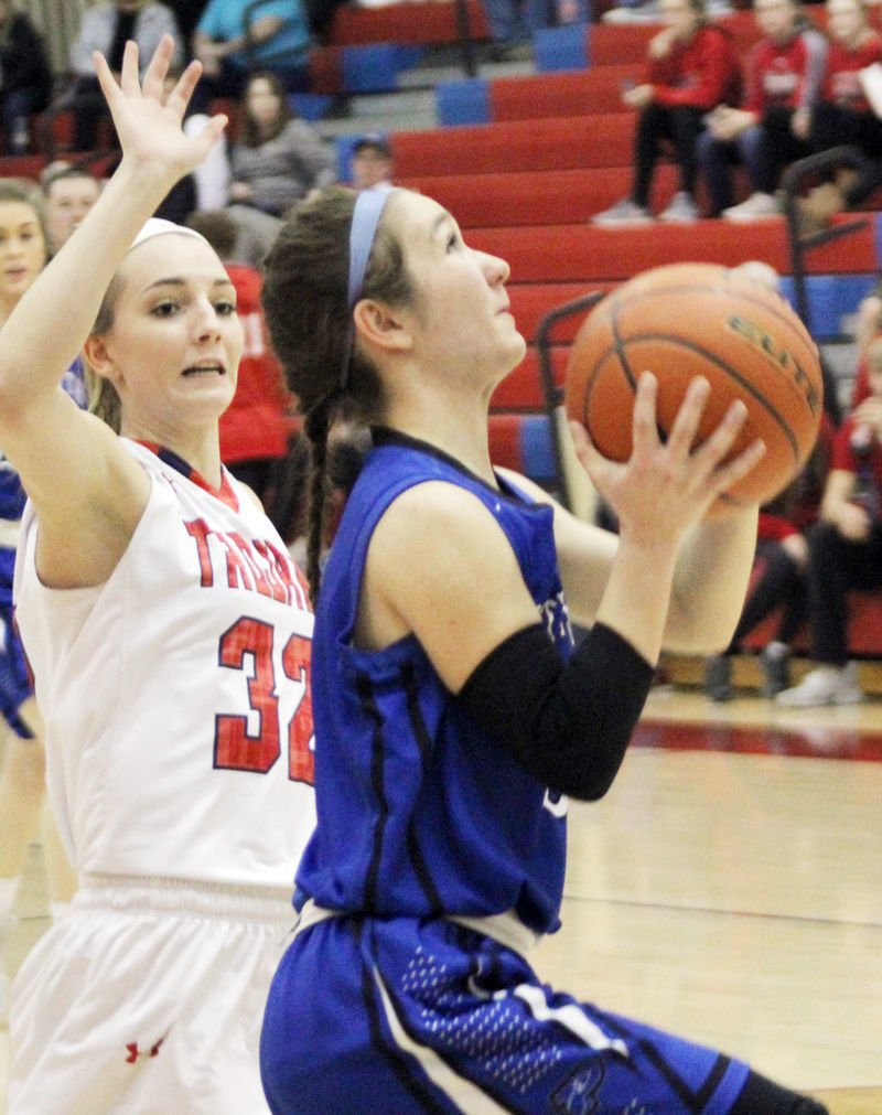 Bella Chappell goes up for layup