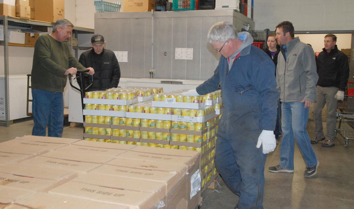 LIM boxes of food unloaded