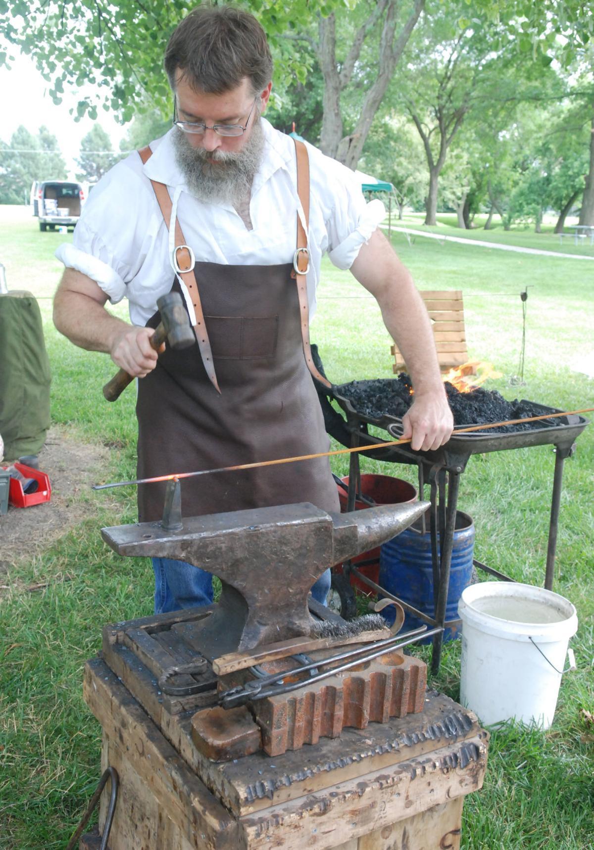 Clemmons Park blacksmith vertical